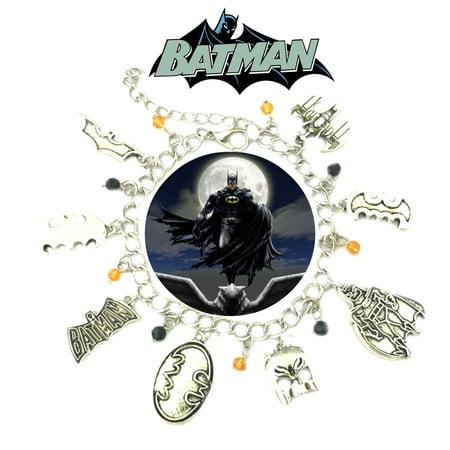 Batman Charm Bracelet TV Show Series Comics Jewelry Multi Charms - Wristlet -Superheroes Brand Movie Superhero Comic Cartoon Collection
