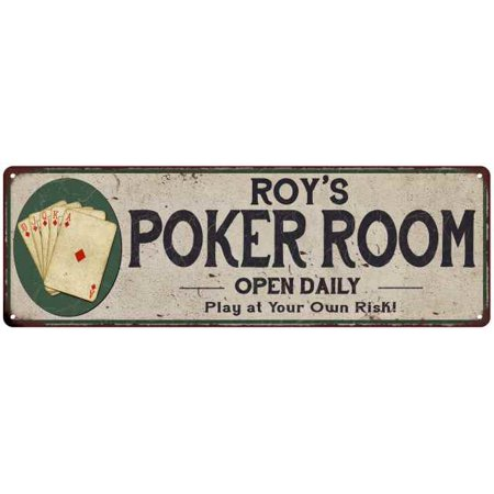 Roy's Poker Room Personalized 6x18 Metal Sign Game Decor 206180048418