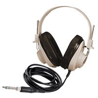 Mono Headphone Replaceable Coiled Cord - Califone 2924AV Deluxe Mono Headphones with Replaceable Straight Cord