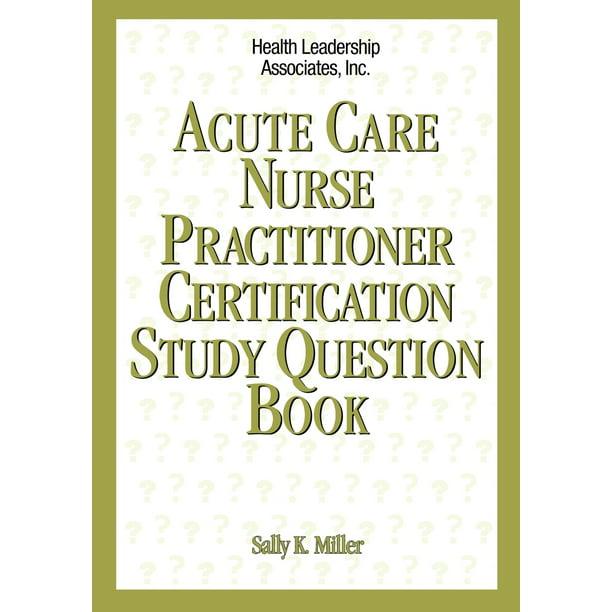 nurse practitioner certification question acute paperback study walmart