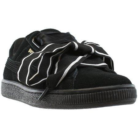 best service 99038 dc407 Puma Suede Heart Satin II Women's Shoes Puma Black/Puma Black 364084-01