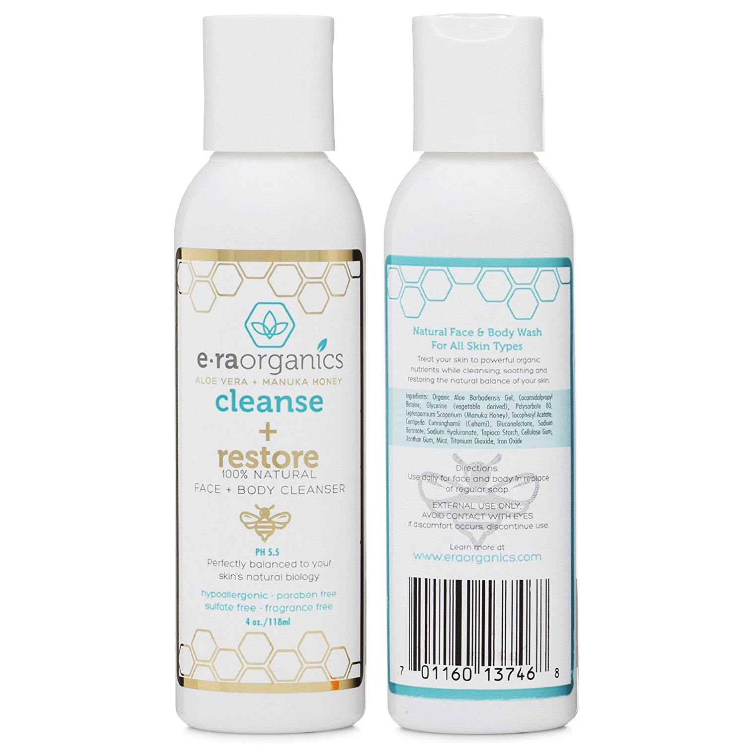 Cleanse + Restore Natural Face and Body Wash for Sensitive Skin – Era Organics