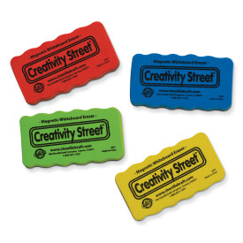 Creativity Street Magnetic Eraser, Assorted Colors, 4 Count