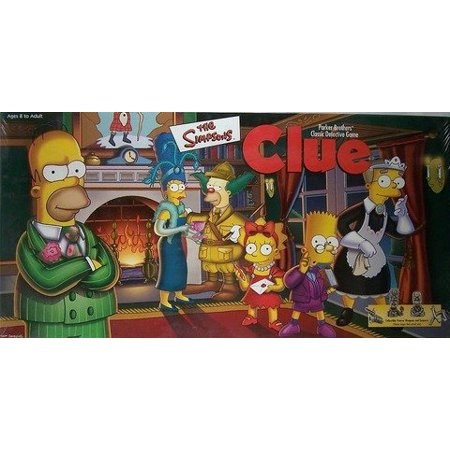 THE SIMPSONS CLUE Board Game 1st EDITION with Pewter Pieces - image 1 of 1