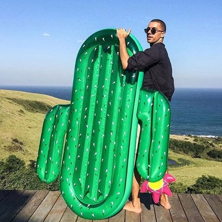 2017 Summer Water Sport Buoy Giant Inflatable Cactus Floating Row Swim Rings](Inflatable Cactus)