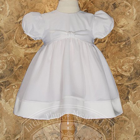 51dc95027d634 Baby Girls White Organza Easter Christening Baptism Dress Gown 3-24M