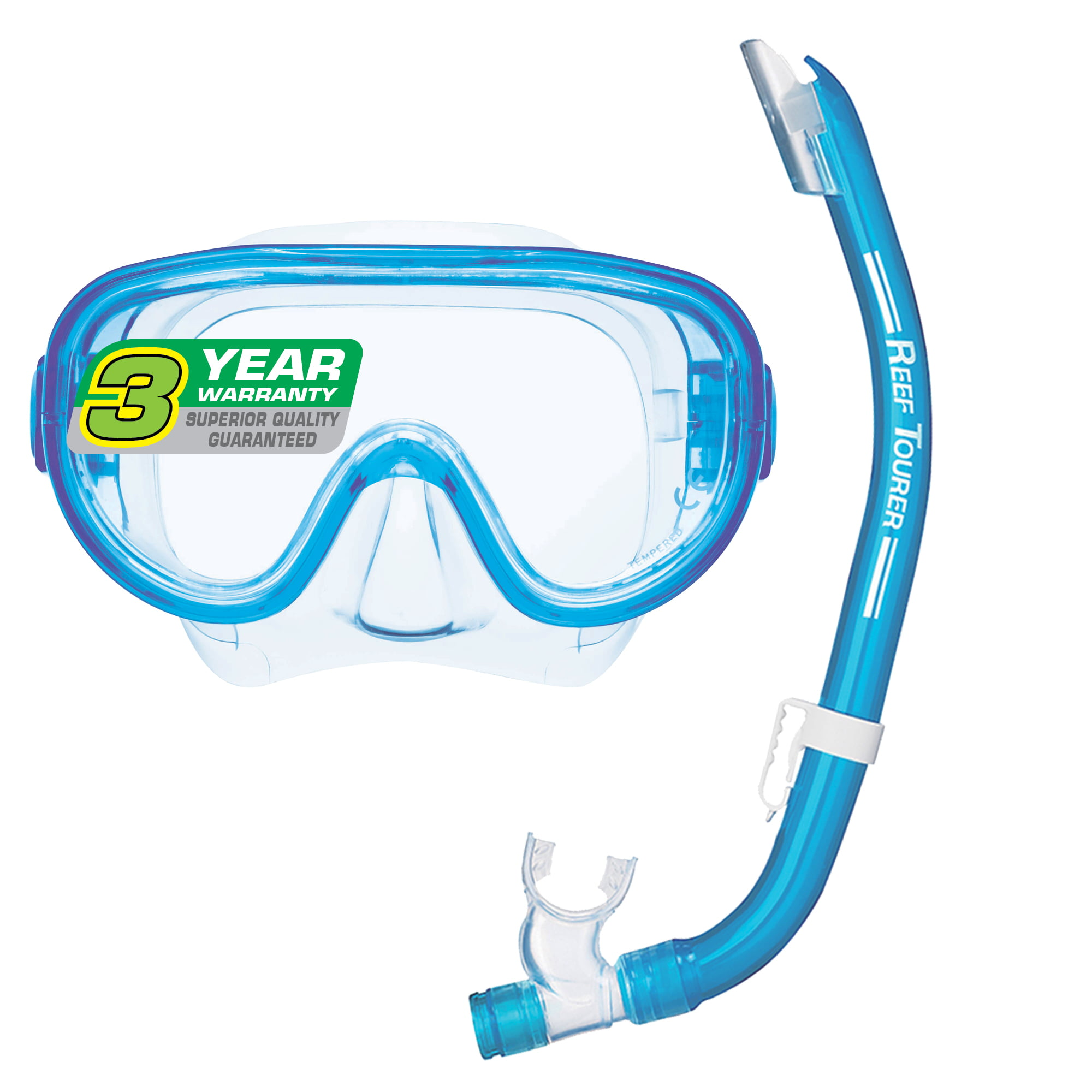Reef Tourer Adult Single-Window Mask & Snorkel Combo Set by Tabata USA, Inc.