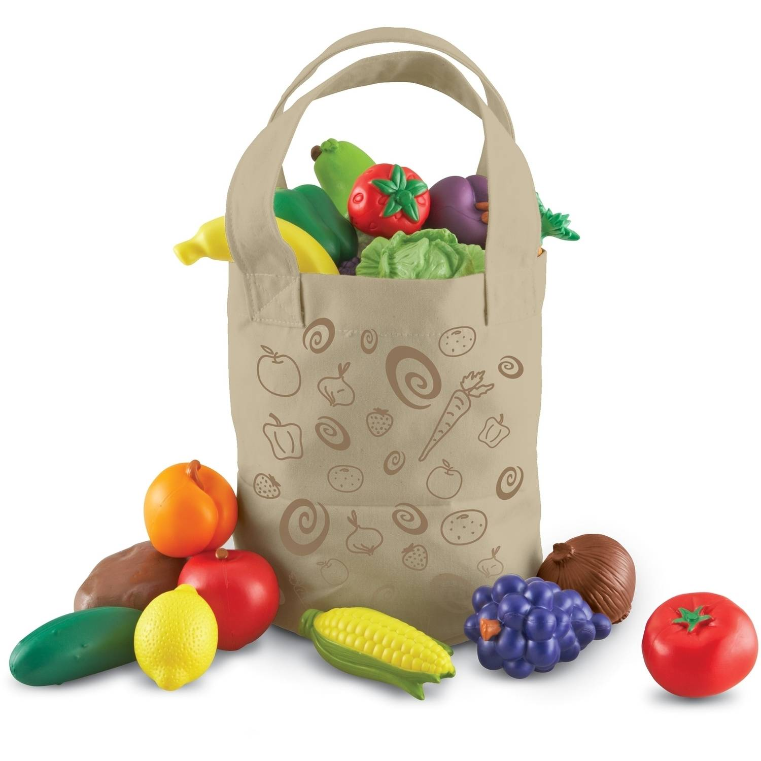 Learning Resources New Sprouts Fresh Picked Fruit and Veggie Tote