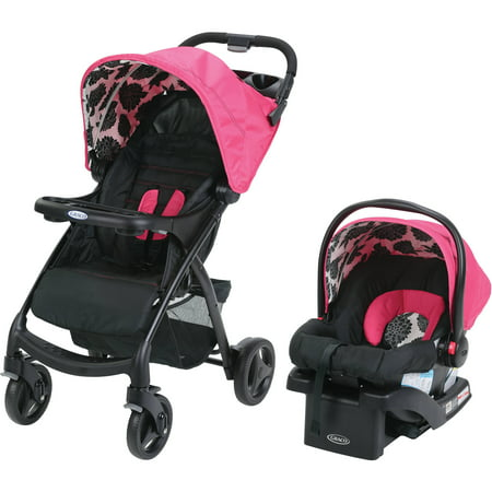 Graco Verb Click Connect Travel System with SnugRide 30 Infant Car Seat, Azalea (Graco Fastaction Infant Car Seat)