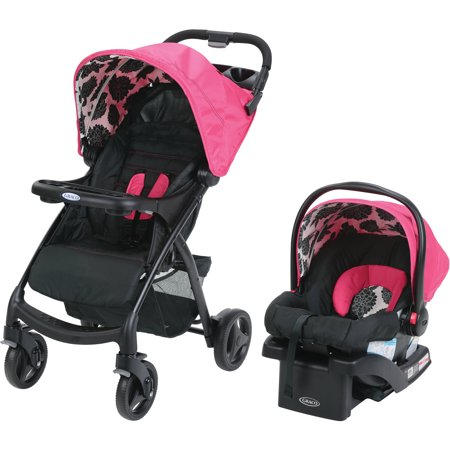 graco verb click connect travel system with snugride 30 infant car seat azalea. Black Bedroom Furniture Sets. Home Design Ideas