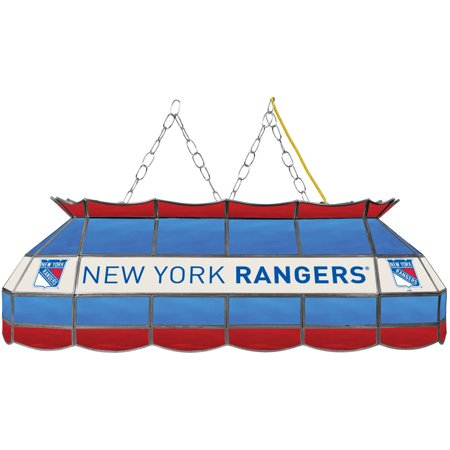 "NHL Handmade Tiffany Style Lamp, 40"", New York Rangers by"