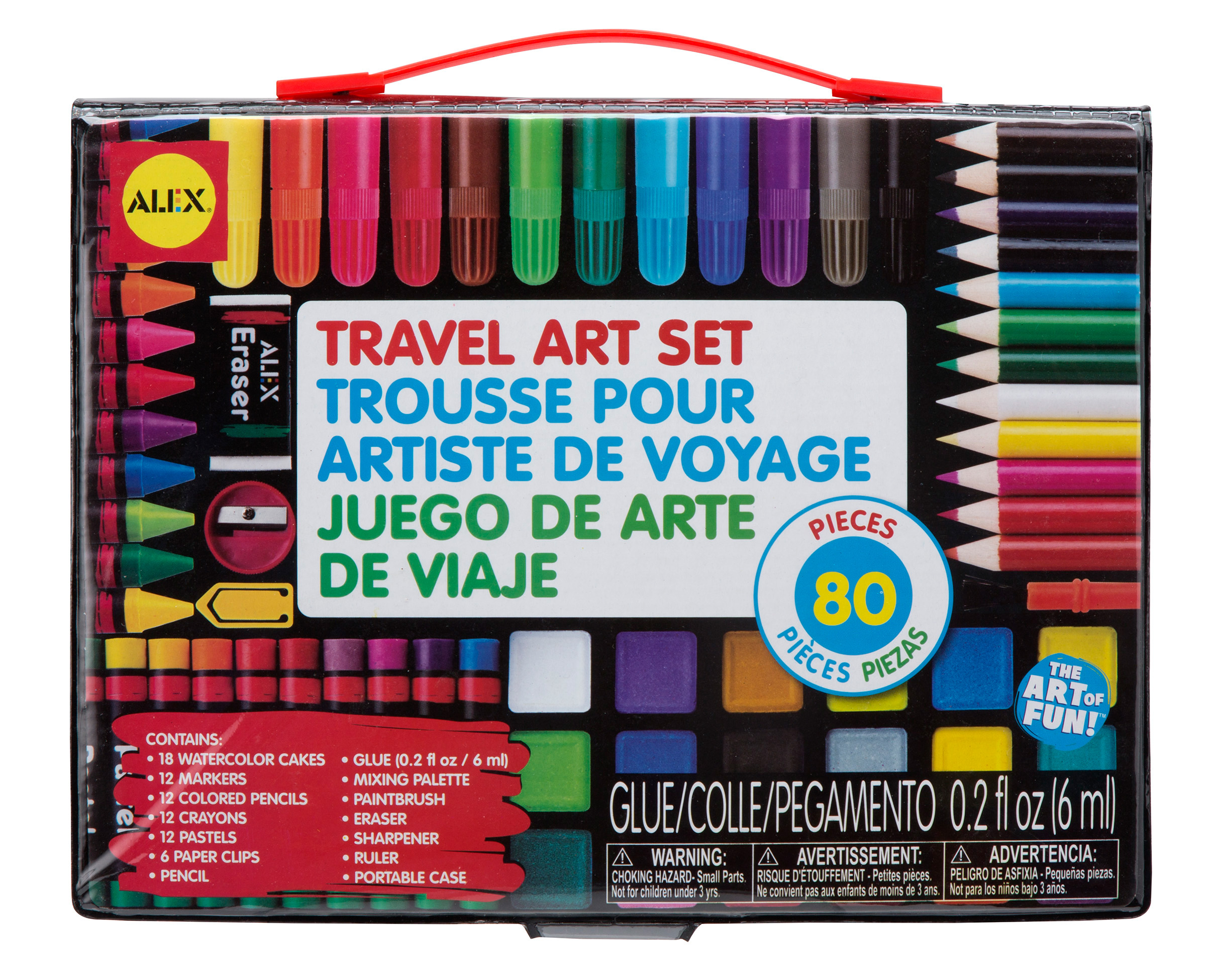 ALEX Toys Artist Studio Travel Art Set with Carrying Case by Alex Brands