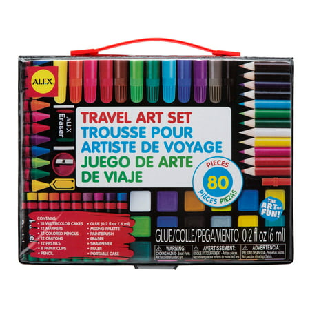 ALEX Toys Artist Studio Travel Art Set with Carrying -