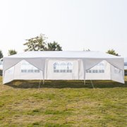 Clearance! Backyard Tent for Parties, URHOMEPRO 2020Newest Wedding Party Tent, Waterproof Patio Gazebo with 8 Removable Sidewalls, Canopy Tent for Camping Outside Party BBQ, 10x30ft, White, W507