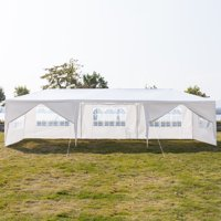 Clearance! Backyard Tent for Parties, URHOMEPRO 2020Newest Wedding Party Tent, Waterproof Patio Gazebo with 8 Removable Sidewalls, Canopy Tent for Camping Outside Party BBQ, 10x30ft, White, W557