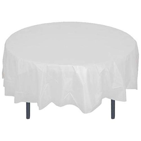 Mountclear 12-Pack Disposable Plastic Tablecloths - 84