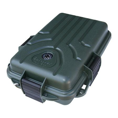 MTM SURVIVOR DRY BOX SMALL W/MIRROR TRIPLE LATCH POLY GREEN