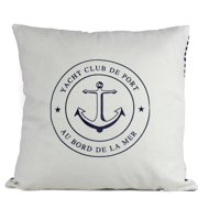 Handcrafted Nautical Decor Yacht Club Anchor Decorative Throw Pillow