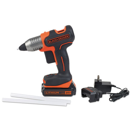 Black & Decker 0270 Black & Decker Cordless Glue Gun 20V Kit Battery, Charger by