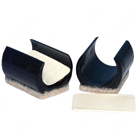 Rail Chair Snap in Felt Bottom Glides - 1