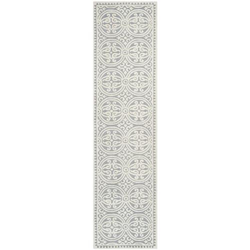 Safavieh  Handmade Cambridge Moroccan Silver/ Ivory Rug (...