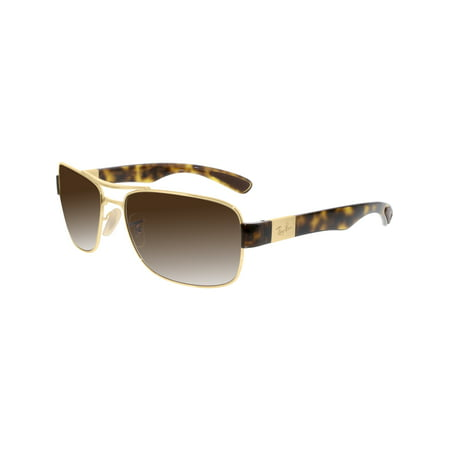 Ray-Ban Men's Gradient RB3522-001/13-61 Gold Rectangle Sunglasses