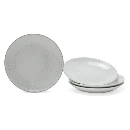 - MoDRN Industrial Speckle 4 Piece Salad Plate Set, Grey