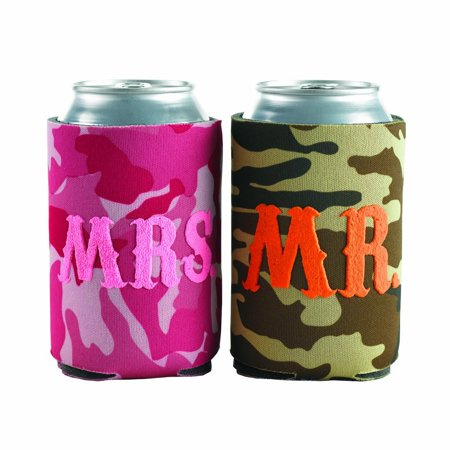 Hortense B Hewitt Mr and Mrs Camo Can Coolies, Set of 2 can coolies to help keep beverages cold By Hortense B. Hewitt