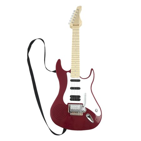 Toy Rock Star Guitar For Kids Battery Operated Musical Rock Guitar Color Red