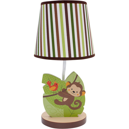 Bedtime Originals by Lambs & Ivy Jungle Buddies Lamp, Brown