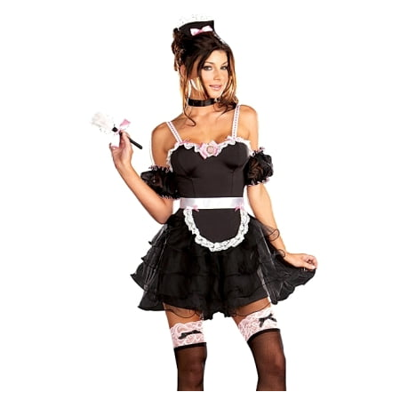 Sexy French Maid Outfit Adult Dress Halloween Costume (French Maid Costume Halloween)