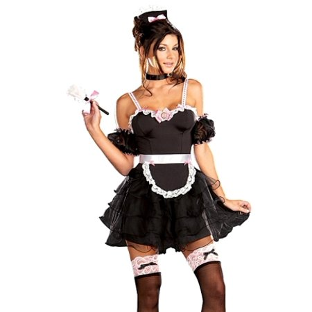 Sexy French Maid Outfit Adult Dress Halloween Costume (French Maid Uniforms)