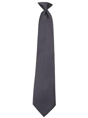 Boys Young Men 14 inch Solid Color Clip On Easy to Remove Clip Necktie Ties