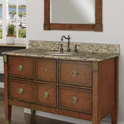 Sagehill Designs Granite 49'' Single Bathroom Vanity Top