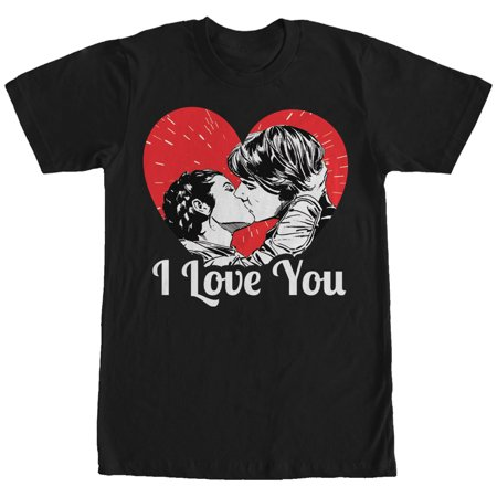 Star Wars Men's Han and Leia I Love You Heart T-Shirt](Leia And Han)