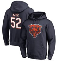 Khalil Mack Chicago Bears NFL Pro Line by Fanatics Branded Team Logo Player Icon Name & Number Pullover Hoodie - Navy