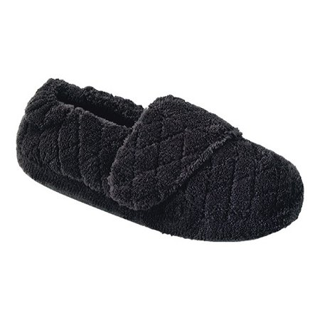 Acorn Women's SPA WRAP Comfort Slippers BLACK (Acorn Down Wrap)