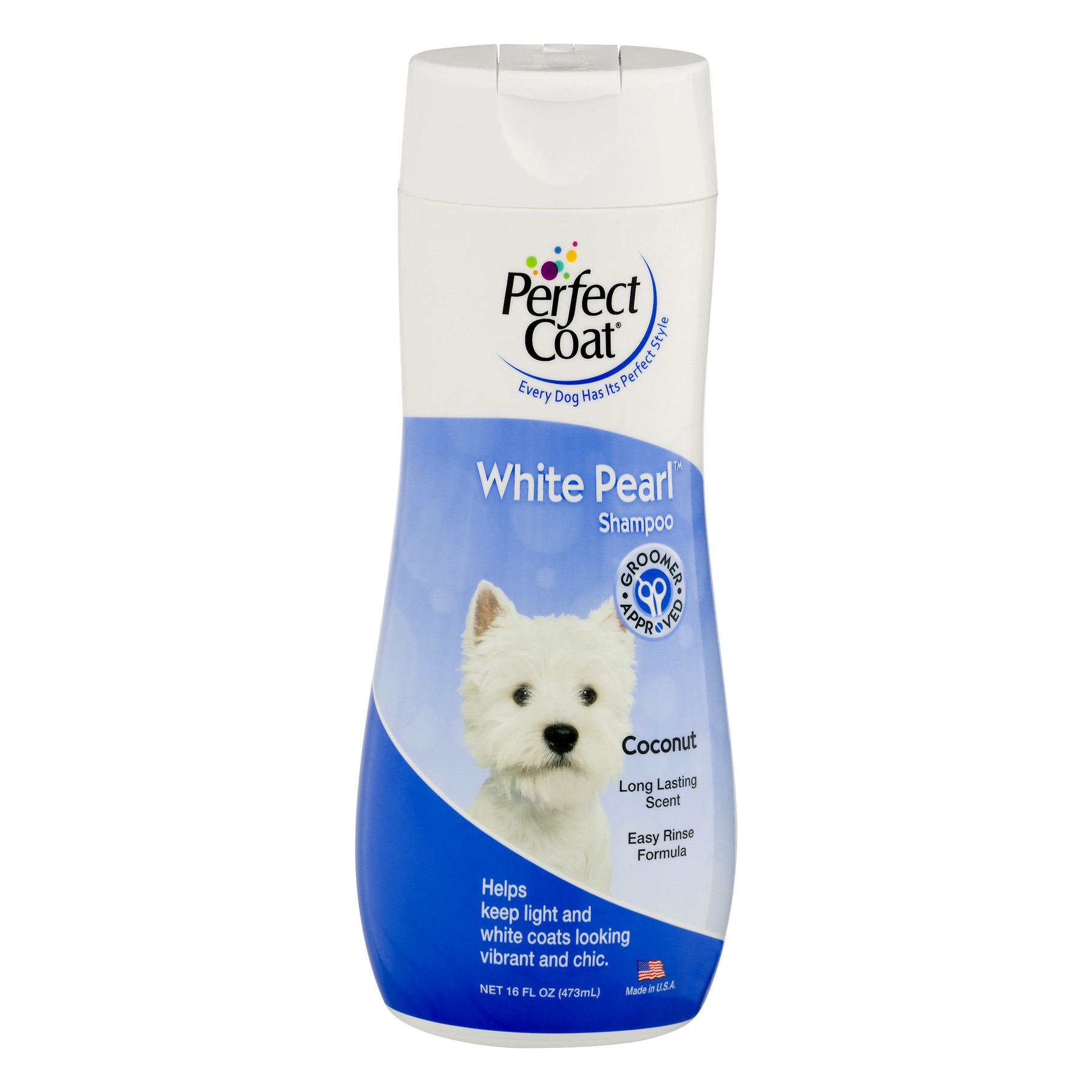 Perfect Coat White Pearl Coconut Scented Dog Shampoo, 16 fl oz