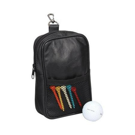 Preferred Nation P7123 Leather Golf Pouch Black OSFA
