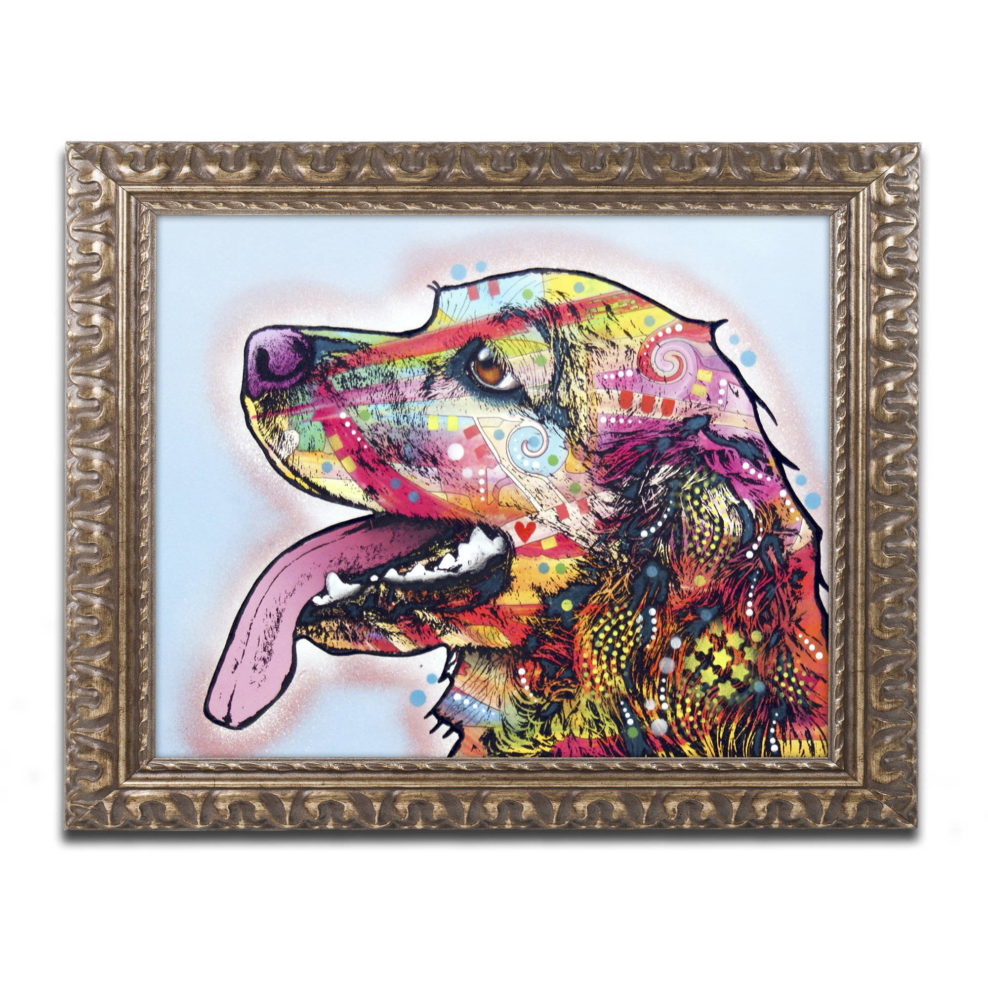 "Trademark Fine Art ""Cocker Spaniel"" Canvas Art by Dean Russo, Gold Ornate Frame by Trademark Global LLC"