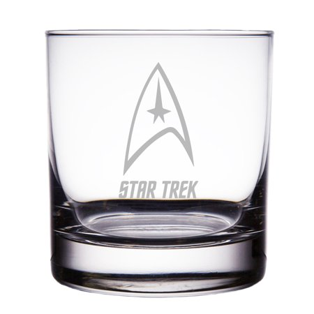 Star Trek Engraved 10 oz Rock Glass - Star Glasses
