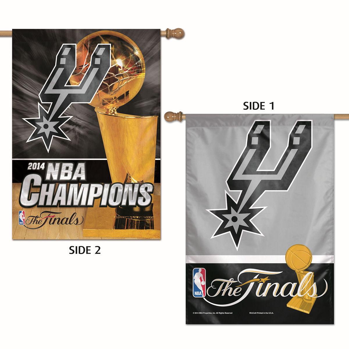 San Antonio Spurs 2014 NBA Champs Banner Flag