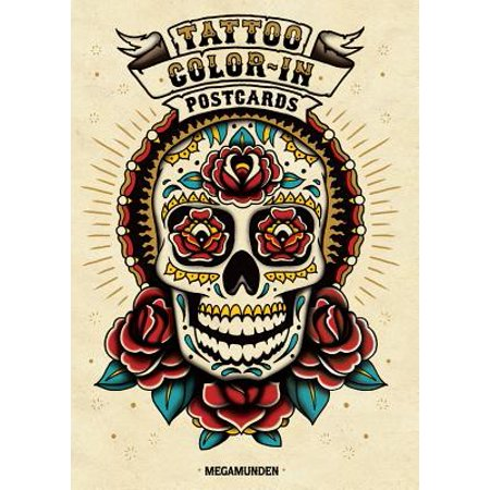 Tattoo Color-In Postcards - Cards Tattoo