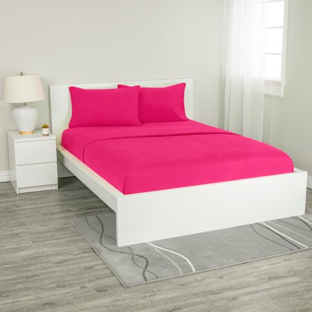 Super Soft 100% Cotton Jersey Sheet Set (Difference Between Bed Linen And Bed Sheet)