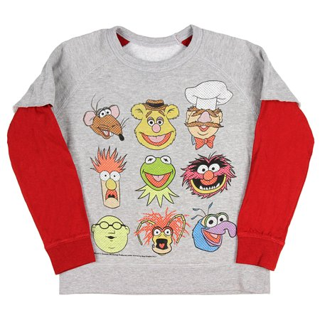 The Muppets Youth Boys' Reversible 9 Character / Animal Lets Party Pullover