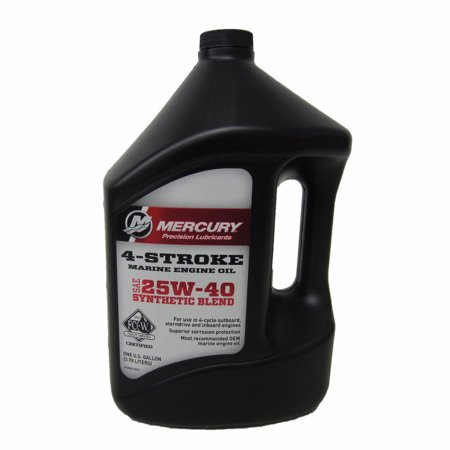 Quicksilver OEM Synthetic Blend 25W-40 Engine Oil 92-8M0078630 Gallon