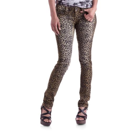 Red Rivet Juniors Leopard Print Skinny Jeans