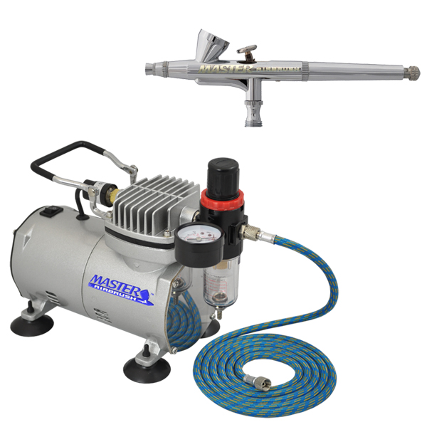 0.3mm Dual-Action Gravity AIRBRUSH KIT SET Air Compressor Auto Hobby Cake Tattoo