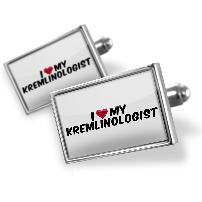 Cufflinks I heart love my Kremlinologist - NEONBLOND