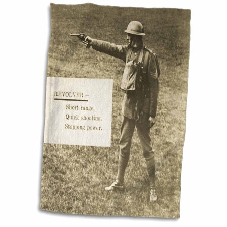 3dRose British Army World War I The Revolver Weapon Training Instructional - Towel, 15 by 22-inch (Army Revolver)